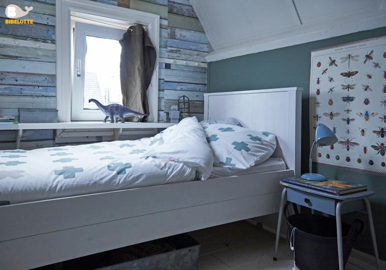 Stoere jongenskamer - Blauwe en grijze jongens kamer ...